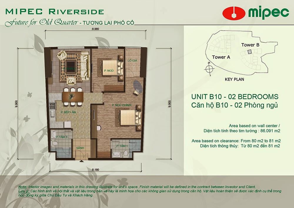 Căn B10 cư xá Mipec Riverside