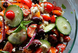 Recently- Tomato Feta Salad