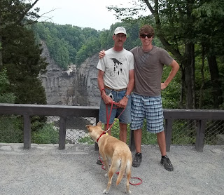 view fm Overlook Taughannock Falls with Jim Nick Layla