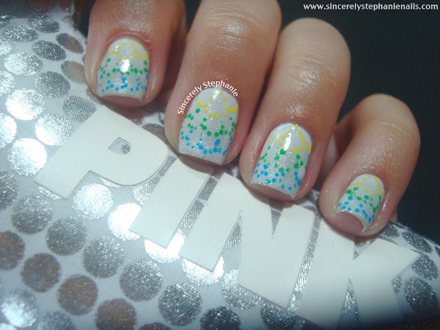 gradient dotted nail art