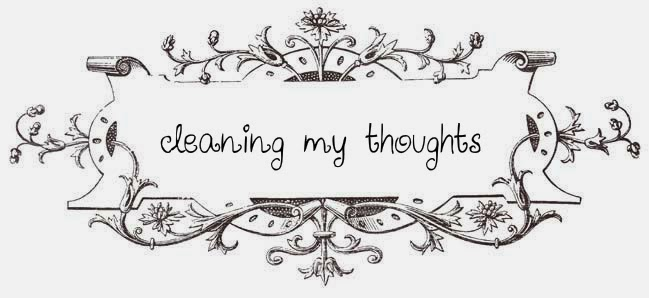 cleaning my thoughts