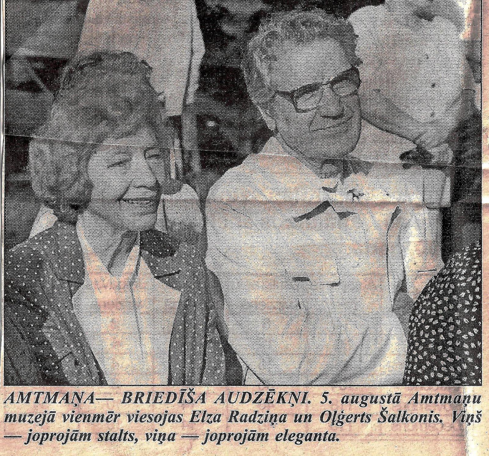 Elza Radziņa un Olģerts Šalkonis 2000. gada 5. augustā