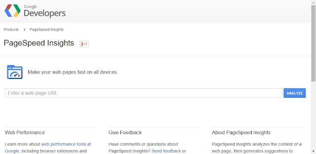 Tutorial : Check Kelajuan Website dan Blog