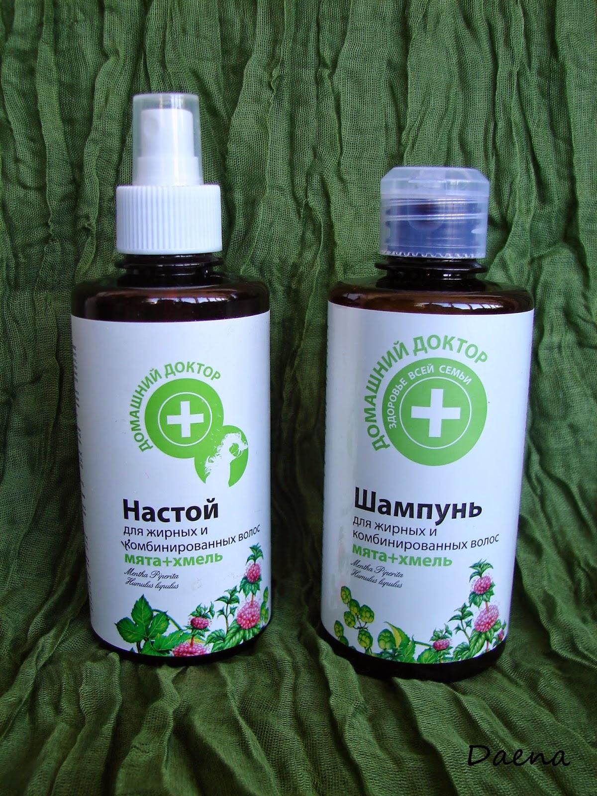 Мятный спрей для волос в домашних