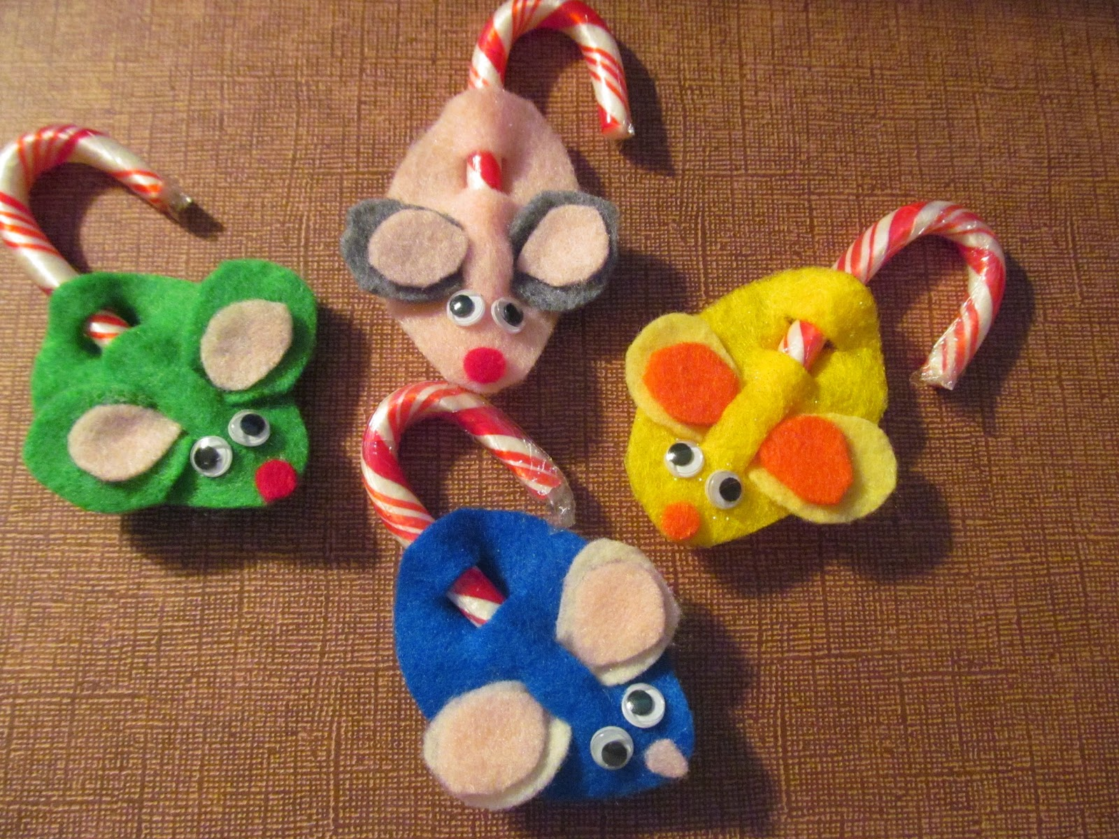 The minister s wife candy cane mice a christmas craft
