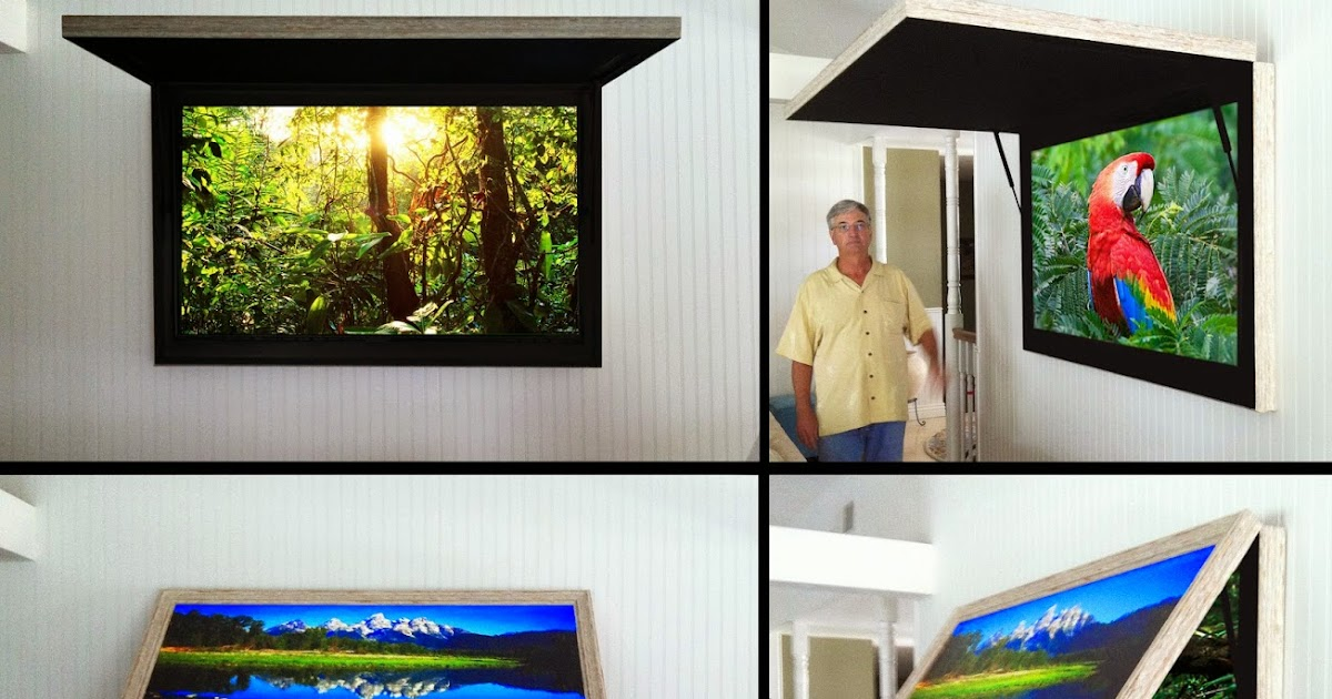 Hidden TV Cabinet with TVCoverUps: Frame TV with Art Cover or behind ...