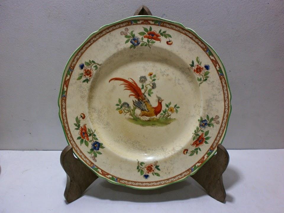 Antikpisan Piring Motif Burung Dan Bunga Royal Venton