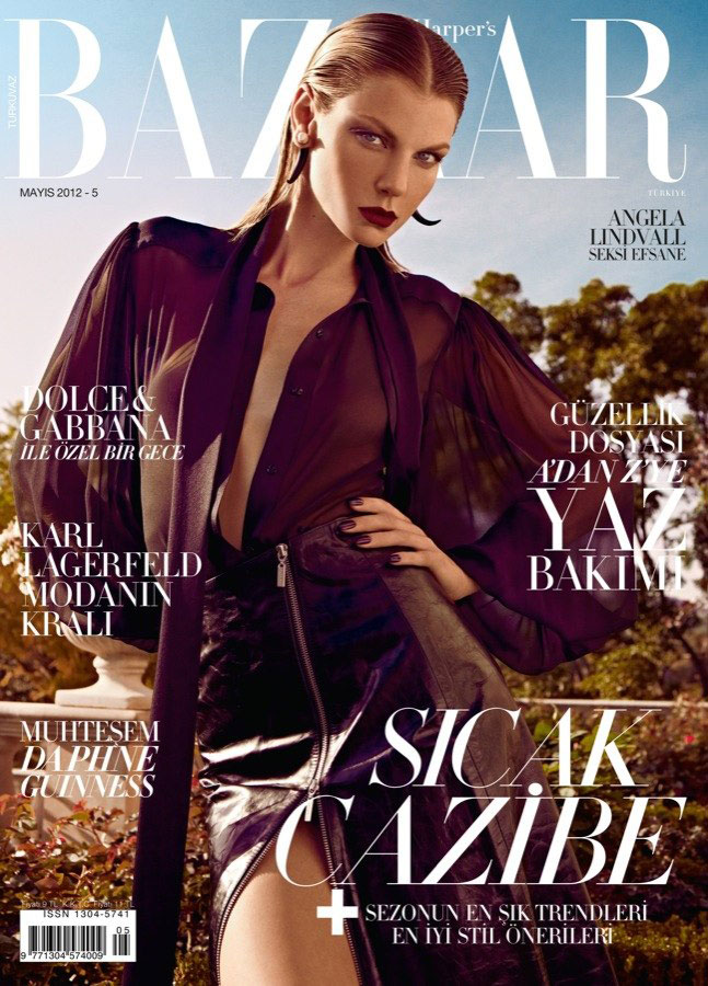 Harper's Bazaar Turkey May 2012: Angela Lindvall by Koray Birand