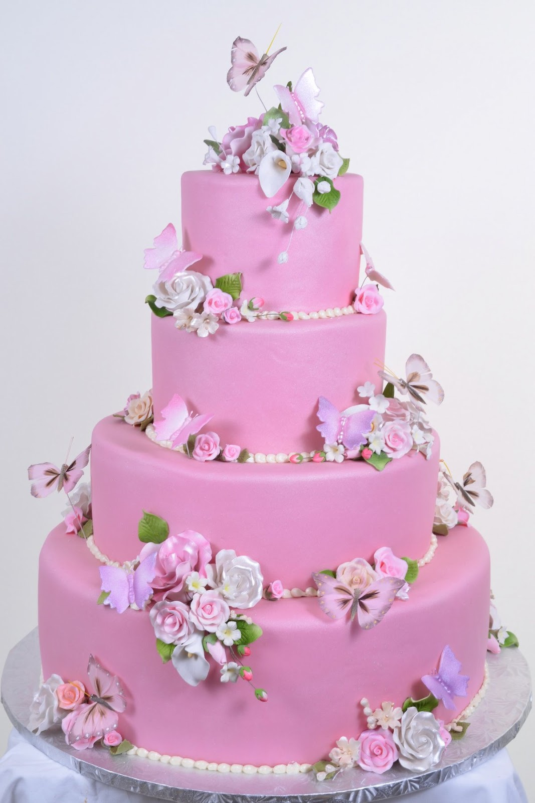 Wedding Cakes Pink Butterfly Wedding Cakes