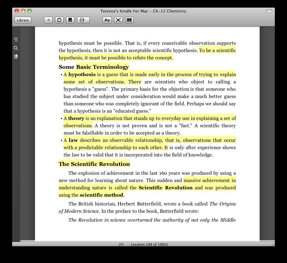 Ebook Highlighting