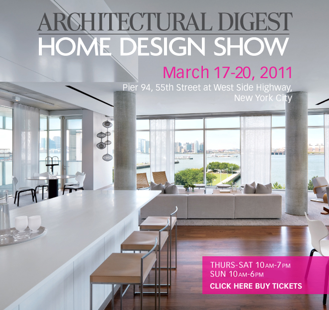 Architectural Digest Home Design Show 2011.
