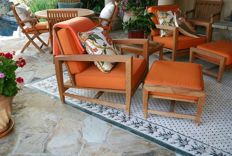 Nice outdoor mosaic tile rug