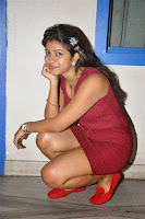 Geethanjali Hot Photoshoot stills in Red Dress