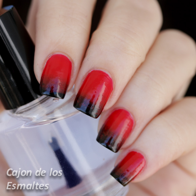Louboutin gradient red - China Glaze Liquid Leather