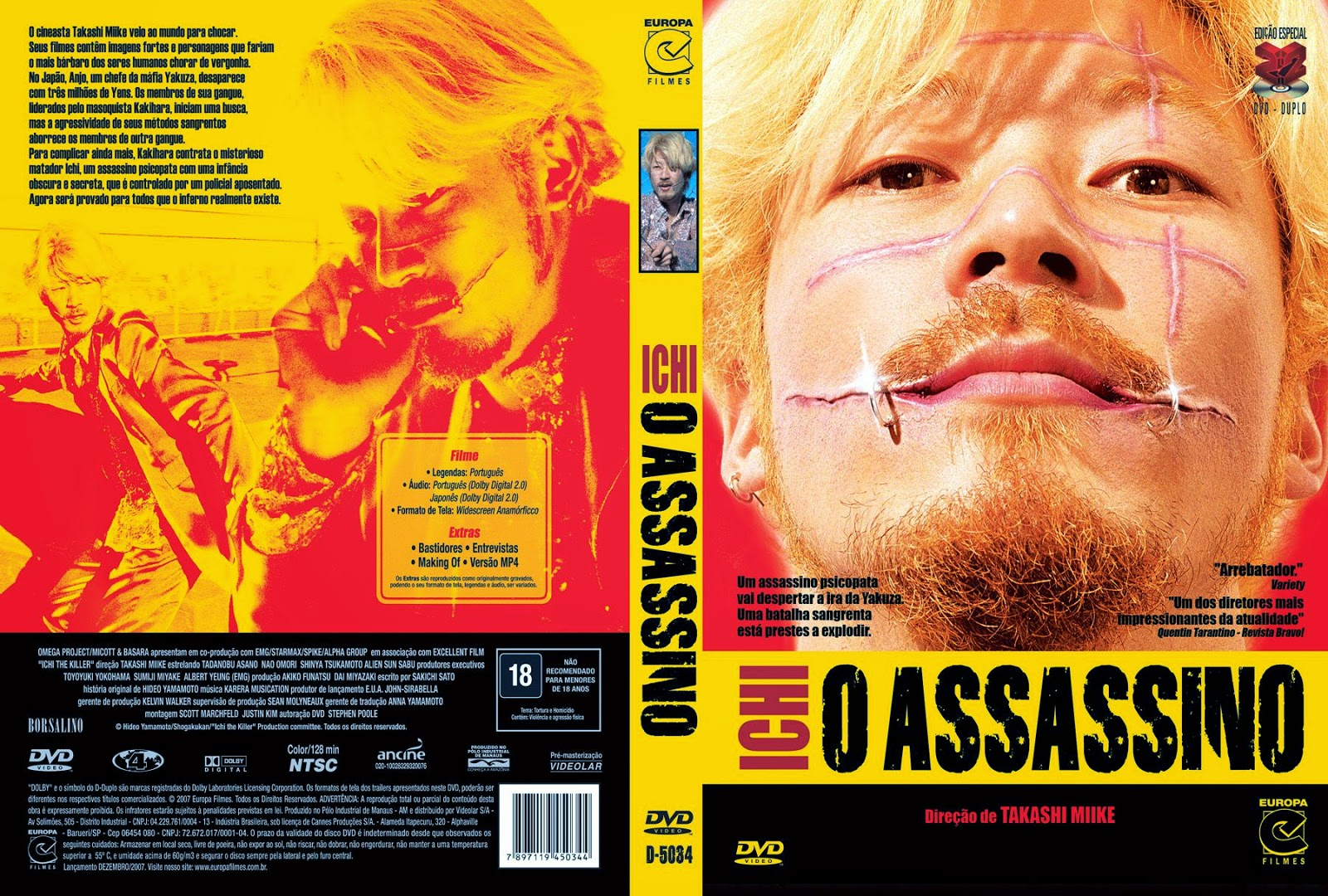 Capa DVD Ichi O Assassino