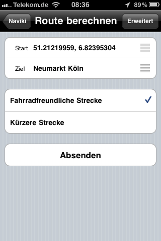 benutzerhandbuch naviki iphone app routenplaner f r radfahrer. Black Bedroom Furniture Sets. Home Design Ideas