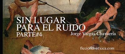 fragmento de la pintura flamenca el carro de heno del pintor El Bosco junto al título de la obra sin lugar para el ruido de jorge vargas chavarría parte 2 para el blog ficciondislexica.com
