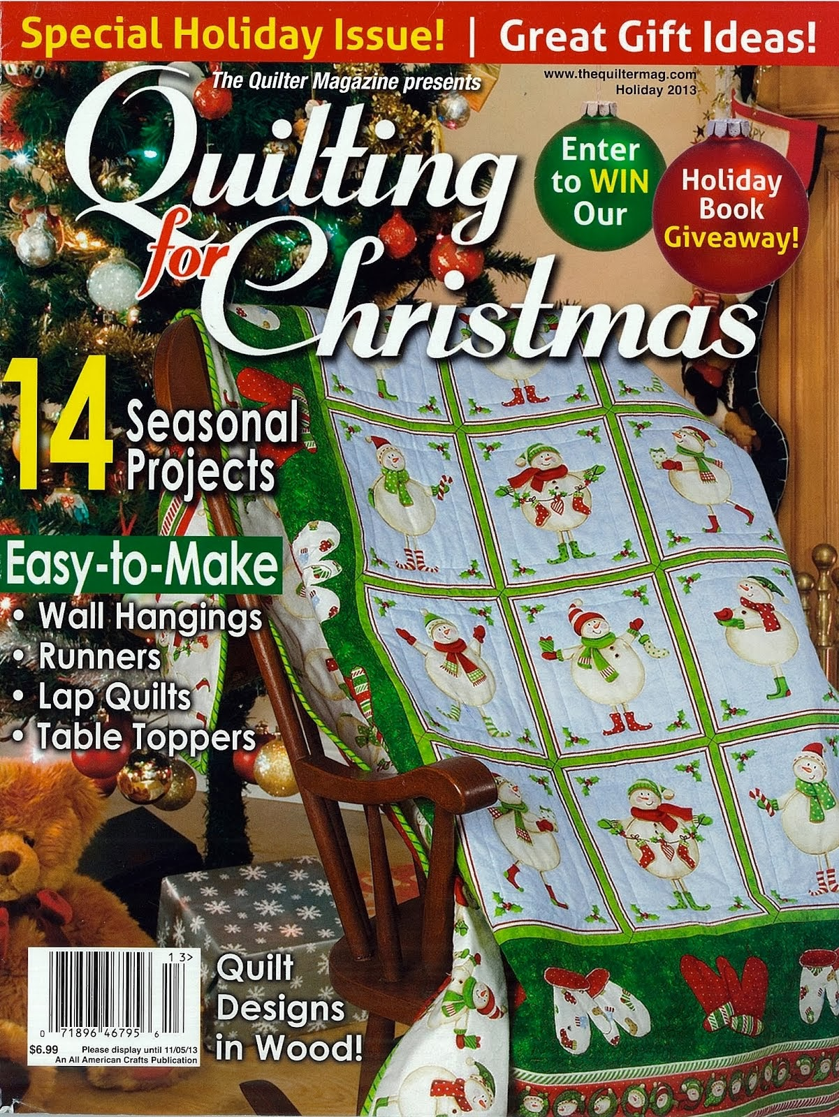 Featured In: The Quilter Magazine, Holiday 2013 issue