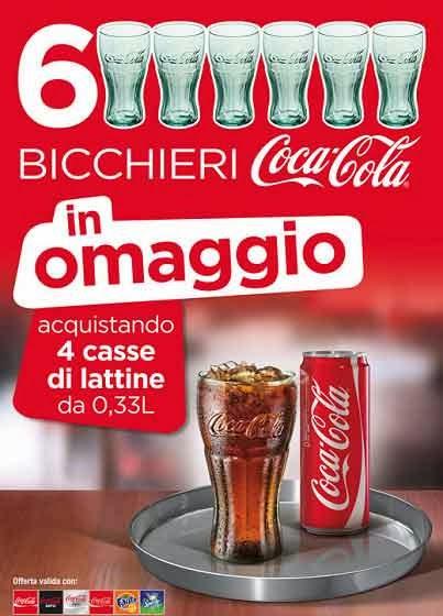 6 bicchieri coca cola c&c