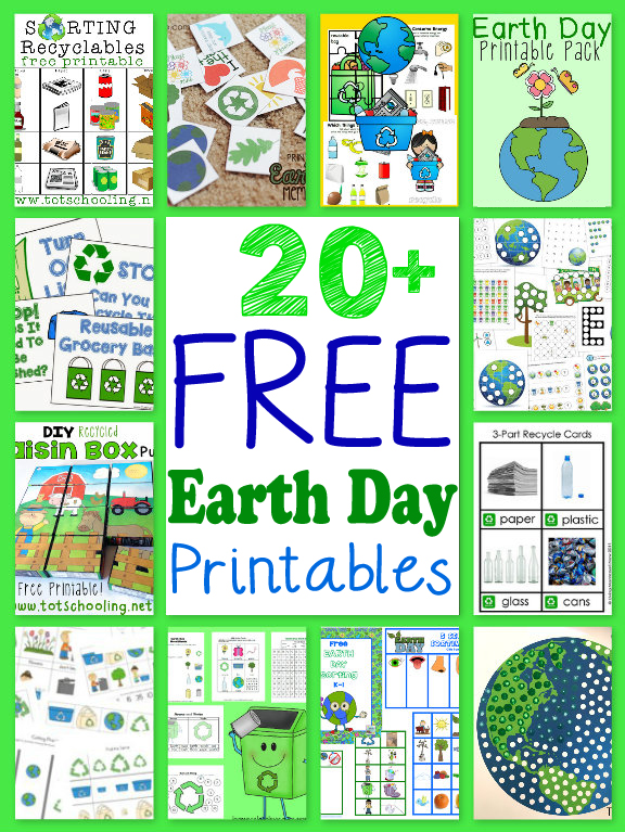 20 Free Earth Day Printables for Kids  Totschooling  Toddler