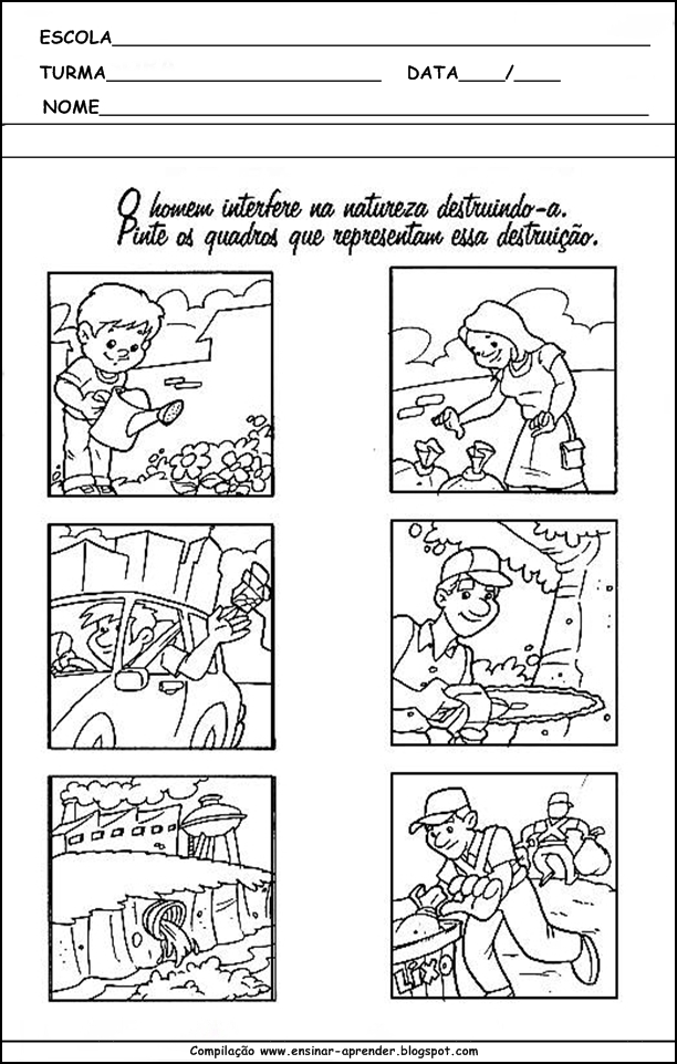 Muito MEIO AMBIENTE ATIVIDADES PARA EDUCAÇÃO INFANTIL | Cantinho do  SU89