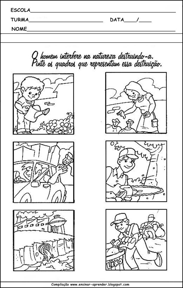 Super MEIO AMBIENTE ATIVIDADES PARA EDUCAÇÃO INFANTIL | Cantinho do  XD49