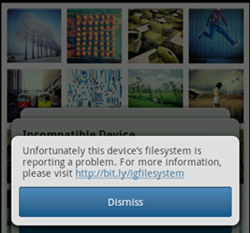 Resolving Instagram Dismiss Error when Login and Register