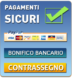 PAGAMENTI SICURI, SI ACCETTANO  CARTA DI CREDITO, CONTRASSEGNO O BONIFICO