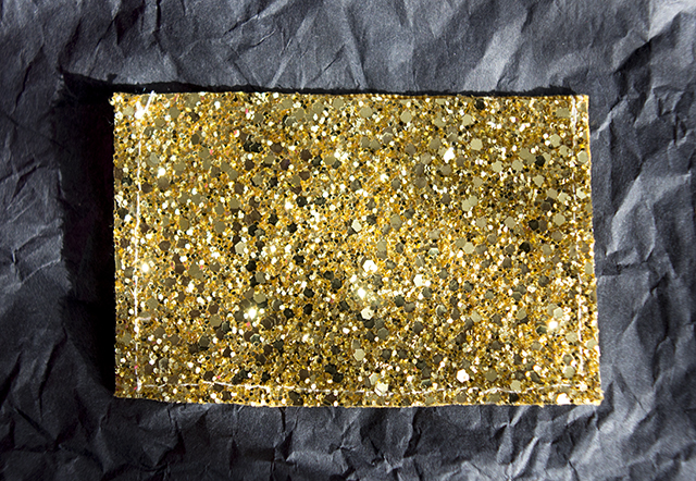 glitter card wallet from oh no rachio