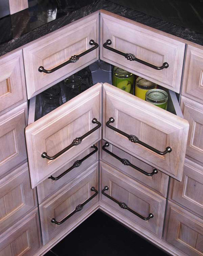 "Get Creative With These Corner Kitchen Cabinet Ideas: Creative Juice: ""What Were They Thinking Thursday"