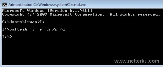 CMD Attrib Komputer - www.netterku.com