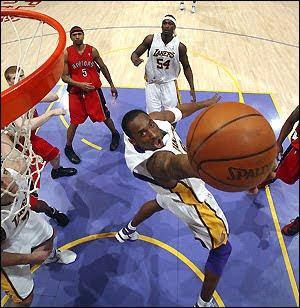 Kobe's Baseline Reverse Dunk