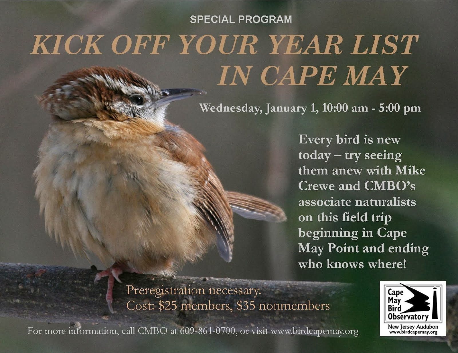 Kick Off Your Year List in Cape May, January 1st