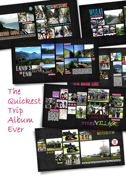 digiscrap trip album template