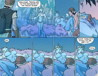 funny snow queen comic