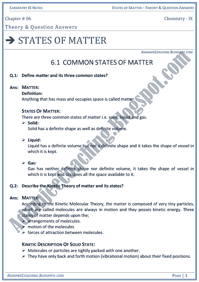 states-of-matter-theory-notes-and-question-answers-chemistry-ix