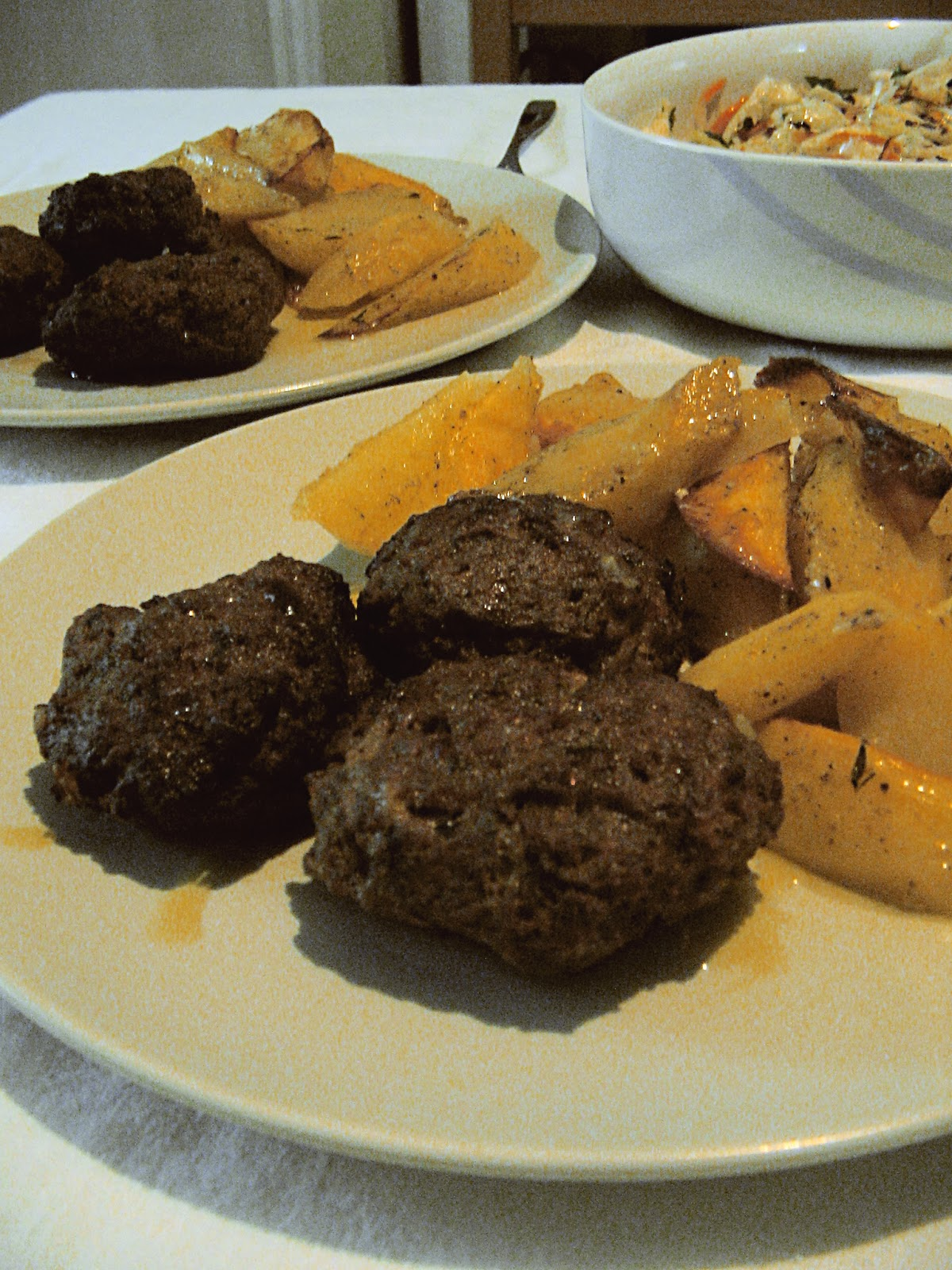 Greek meatballs with potatoes