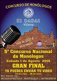 5º CONCURSO NACIONAL DE MONÓLOGOS EL RABAL 2015
