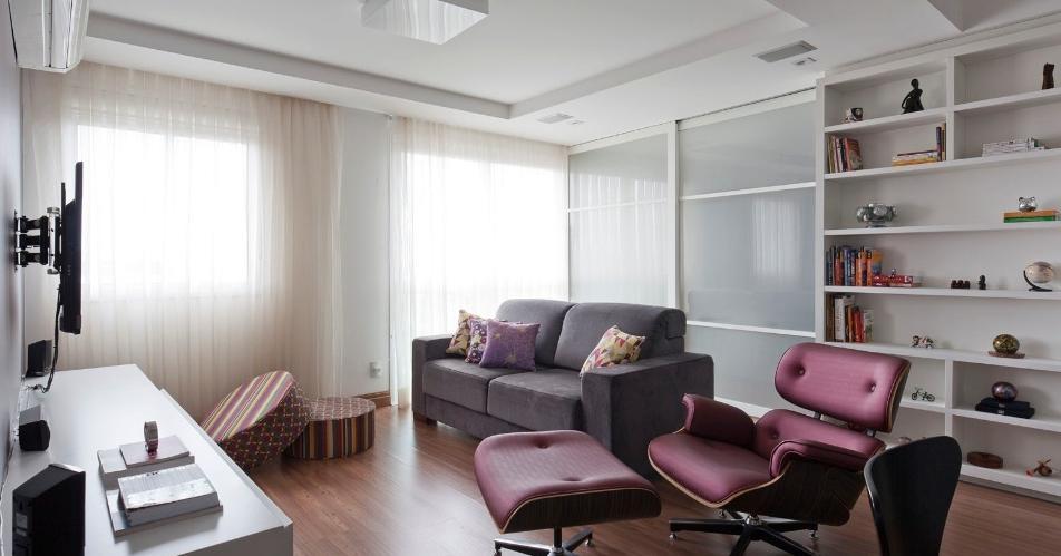 decoracao de sala lilas : decoracao de sala lilas:tons de cinza e lilás pra quem não tem medo de ousar vale a pena