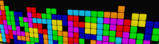 Tetris Colorful Cubes Wallpaper
