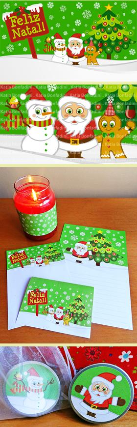 Ilustração para kit de Natal em PDF