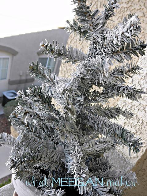 Under $3 DIY Flocked Christmas Tree