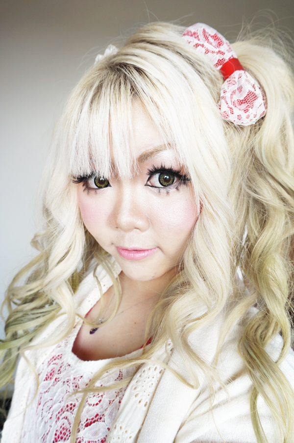 cute lace hair bow kawaii