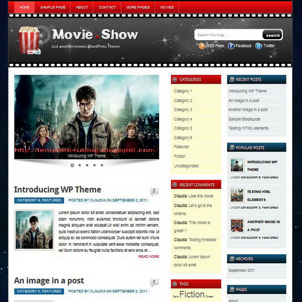 Movie Show WordPress Theme