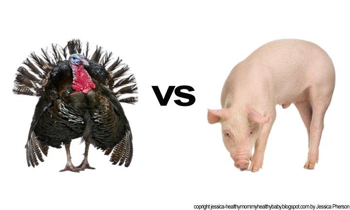 healthy mommy healthy baby traditional pork bacon vs turkey bacon