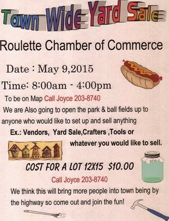 5-9 Roulette Town Wide Yard Sale
