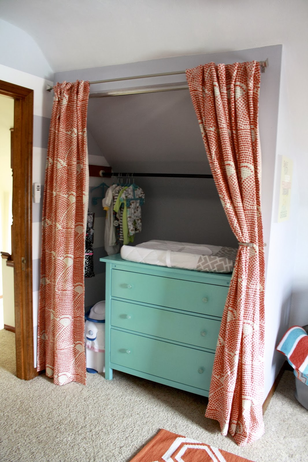 closet changing table