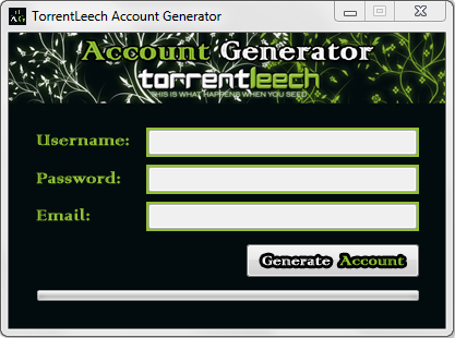 TorrentLeech Account Generator Get Your TorrentLeech Account Now