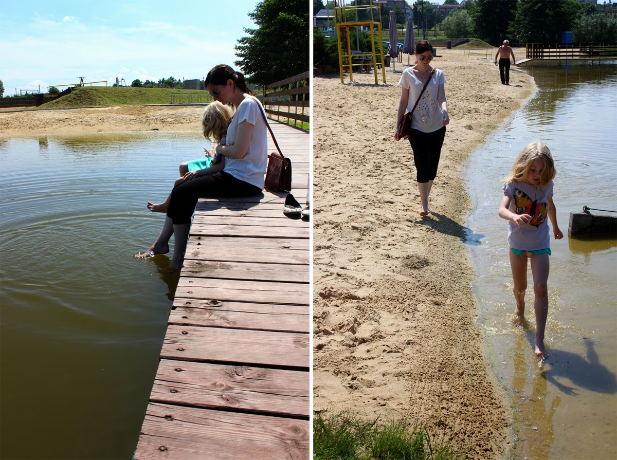 girls at the lake, magnificent day, family, poland, summer, todaymyway.com