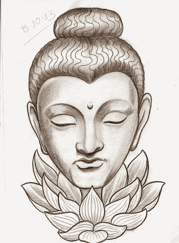 Tattoo sketch a day religious october 15th 21st buddha with lotus flower tattoo design mightylinksfo